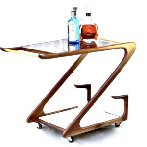 Bar Cart Side Table by Janosi Designs